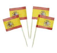 50 Minifahnen Dekopicker Spanien Wappen 30 x 40 mm