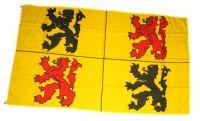 Fahne / Flagge Belgien - Hainaut Hennegau 90 x 150 cm