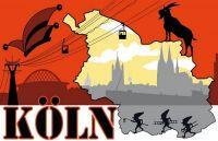 Fahnen Aufkleber Sticker Köln Silhouette