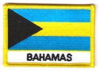 Fahnen Aufnäher Bahamas Schrift