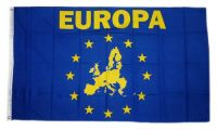 Fahne / Flagge Europa Karte 90 x 150 cm