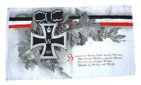 Fahne / Flagge Eisernes Kreuz Treue Eichenlaub 90 x 150 cm
