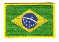 Fahnen Aufnäher Brasilien