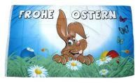 Fahne / Flagge Frohe Ostern Schmetterlinge 90 x 150 cm