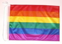 Bootsflagge Regenbogen 30 x 45 cm