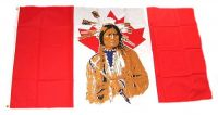 Fahne / Flagge Kanada Indianer 90 x 150 cm