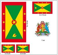 Fahnen Aufkleber Set Grenada