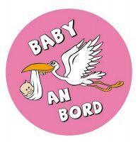 Aufkleber Sticker Baby an Bord Mädchen