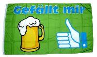 Fahne / Flagge Bier Gefällt mir 90 x 150 cm
