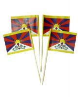 50 Minifahnen Dekopicker Tibet 30 x 40 mm