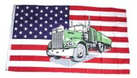 Fahne / Flagge USA - Truck 90 x 150 cm