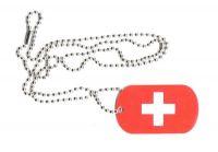 Dog Tag Fahne Schweiz