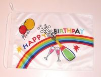 Bootsflagge Happy Birthday 30 x 45 cm