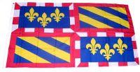 Fahne / Flagge Frankreich - Burgund 90 x 150 cm