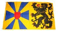 Fahne / Flagge Belgien - Westflandern Wappen 90 x 150 cm