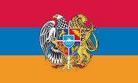 Flagge / Fahne Armenien Wappen Hissflagge 90 x 150 cm