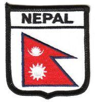 Wappen Aufnäher Fahne Nepal