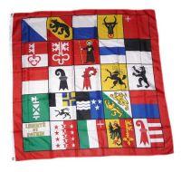 Fahne / Flagge Schweiz - 25 Kantone 120 x 120 cm