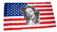 Fahne / Flagge USA - Marylin Monroe 90 x 150 cm