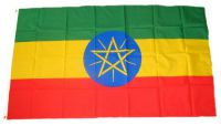 Flagge / Fahne Äthiopien mit Wappen Hissflagge 90 x 150 cm