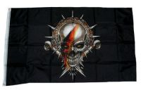 Fahne / Flagge Totenkopf Deutschland 90 x 150 cm
