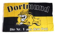 Fahne / Flagge Dortmund Bulldogge 90 x 150 cm