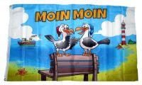 Fahne / Flagge Moin Moin Möwen Bank 90 x 150 cm