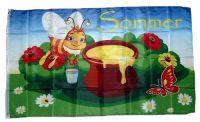 Fahne / Flagge Sommer Biene 90 x 150 cm