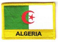 Fahnen Aufnäher Algerien Schrift