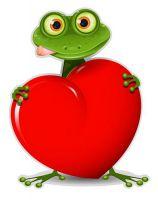 Aufkleber Sticker Frosch Herz Autoaufkleber