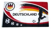 Fahne / Flagge Deutschland Fußball Fan 150 x 250 cm