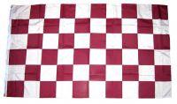 Fahne / Flagge Karo lila / weiß 90 x 150 cm