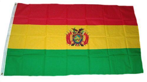 Flagge / Fahne Bolivien Wappen Hissflagge 90 x 150 cm
