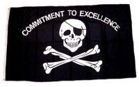 Fahne / Flagge Pirat Commitment 90 x 150 cm