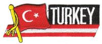 Fahnen Sidekick Aufnäher Türkei