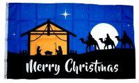 Fahne / Flagge Merry Christmas Bethlehem 90 x 150 cm