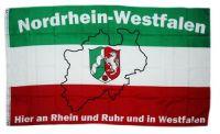 Fahne / Flagge Nordrhein Westfalen Rhein & Ruhr 90 x 150 cm