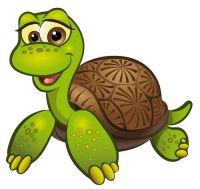 Aufkleber Sticker Schildkröte liegend