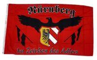 Fahne / Flagge Nürnberg Adler Fan 90 x 150 cm
