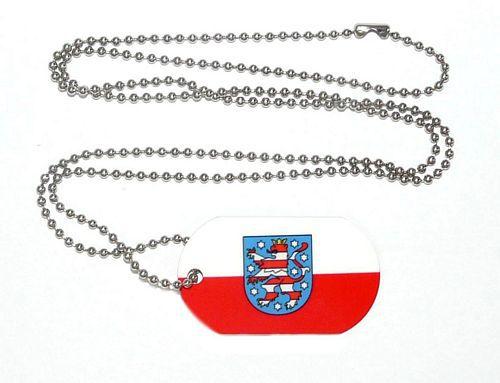 Erkennungsmarke Thüringen Dog Tag 30 x 50 mm Fahnen Flaggen