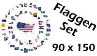 Flaggenset USA Bundesstaaten 90 x 150 cm