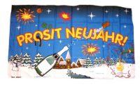Fahne / Flagge Prosit Neujahr 30 x 45 cm
