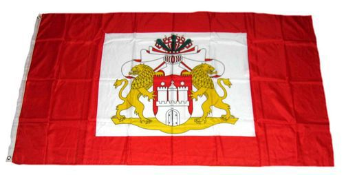 Flagge / Fahne Hamburg Senat Hissflagge 90 x 150 cm