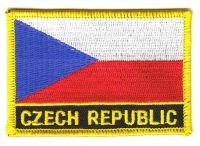 Fahnen Aufnäher Tschechien Schrift