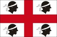 Fahnen Aufkleber Sticker Italien - Sardinien