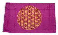 Fahne / Flagge Blume des Lebens 90 x 150 cm