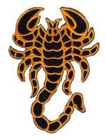 Aufnäher Patch Skorpion orange