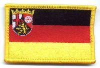 Fahnen Aufnäher Rheinland Pfalz