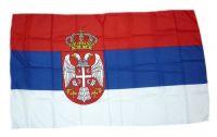 Fahne / Flagge Serbien Wappen 30 x 45 cm