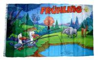 Fahne / Flagge Frühling Möwen 90 x 150 cm